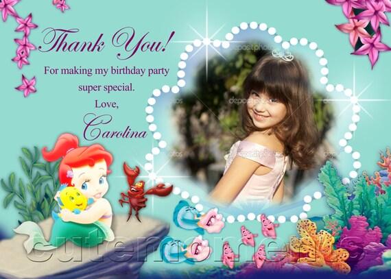 Princess thank you card disney princess custom order disney princess thank you card Digital file