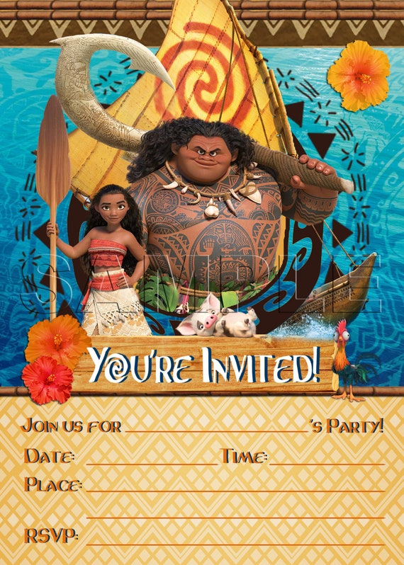 Disney Moana Party Einladung INSTANT DOWNLOAD