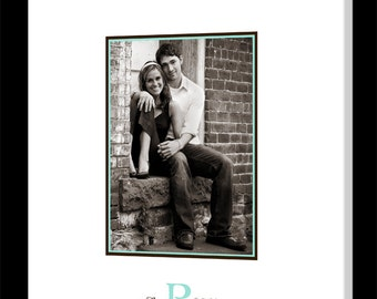 Wedding Guest Book Alternative, Personalized Canvas Sign with Photograph & Monogram, Wedding Signature Sign