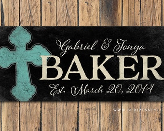 Personalized Wood Family Established Name Sign, Family Established Plaque, Last Name Sign, Wedding  Anniversary Gift