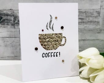 Sequin Coffee Card