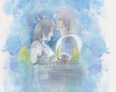 FFX Yuna & Tidus Love Scene in Macalania Woods - FF10 Final Fantasy 10