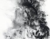TENEBRAE ET LUX - Light & Darkness - Romance - Watercolor Gouache , Pencil, Ink, Charcoal - Ifrit Shiva Final Fanatasyb xv