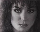 Joan Jett Portrait -  Black Hearts, I Hate Myself for Loving You 9x12