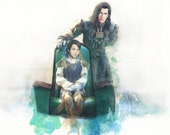 FFXII - House Solidor - Brothers Vayne & Larsa 9x12 Watercolor Portrait- FFX12