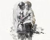 FFXII - Fran & Balthier Embrace - Final Fantasy 12 Zodiac Age
