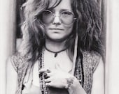 9x12 Janis Joplin - Like a pearl, A pearl of a girl - Portrait