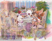 9X12 Print Final Fantasy Moogle Tea Party