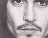 Johnny Depp Portrait - b&...