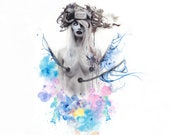 Jenova - Mother of Sephiroth - FF7 FFVII Final Fantasy VII Advent Children - Watercolor - Art - Fanart