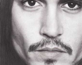 Johnny Depp Portrait - Pirates of the Caribbean , Edward Scissorhands , Sleepy Hollow