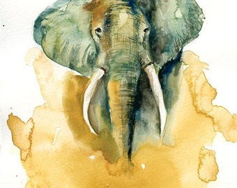 ELEPHANT-11x14inch Print (Large size)-home decor--animal art-poster-nature art