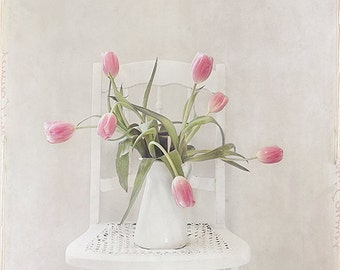 Flower Still Life Photo Floral Ice Cream Cone Print Pink Etsy