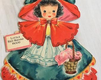 Vintage Little Red Riding Hood Hallmark Doll Card  Doll No. 5