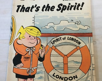 Vintage Dennis The Menace Comic Book, That's The Spirit by Hank Ketchum rom 1974