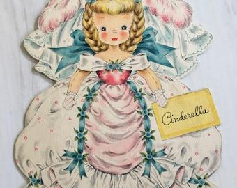Vintage Cinderella Land of Make Believe Hallmark Doll Card  Doll No. 2