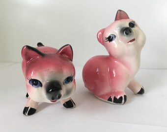 Vintage Pig Salt and Pepper Shakers Made in Japan in the 1950s