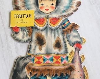 Vintage Tautuk of Alaska Dolls of the Nation Hallmark Doll Card     Doll No. 26