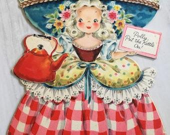Vintage Polly Put The Kettle on Hallmark Doll Card  Doll No. 15