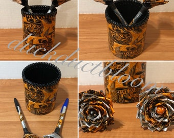 3-Piece Pen & Desk Caddy Office Set in Harley-Davidson Print