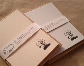 Letterpress Notecard Set /// 'Vertigo' design, set of 6