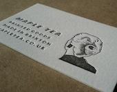 Letterpress Business Cards including hand drawn illustration or logo