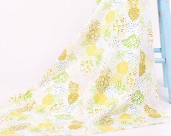 Pineapple Swaddle Blanket , Organic  Baby Blanket, Pineapple Nursery Bedding,   Pineapple Baby Blanket , Pineapple Baby Gifts , Ananas