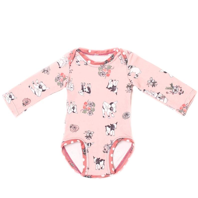 ab8dec447e6a0e Rosa Blumen Body Bio Babykleidung Mädchen Neugeborene