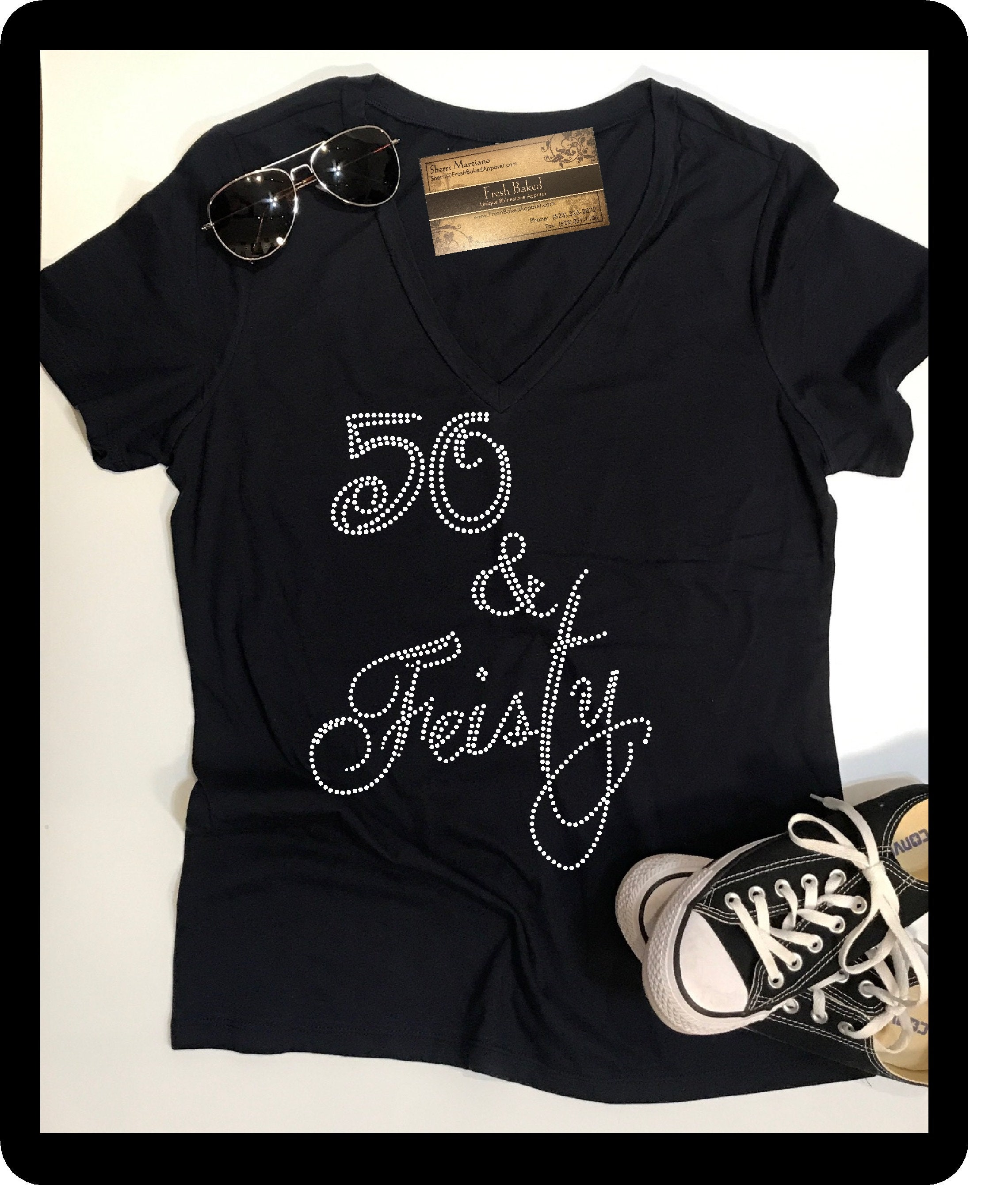 Custom Rhinestone BLiNg 50 Feisty Shirt