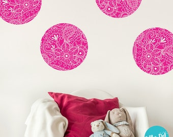 Paisley Polka Dot Wall Decals (8 Colors) | Long Life | Apartment Safe - CREATIVE009 & Paisley wall decal | Etsy