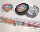 Ice Cream Cake Labels Stickers Fits 3.5g 1 8 Tuna Can Self Seal Press In Style Tins - FREE SHIPPING - Can not included