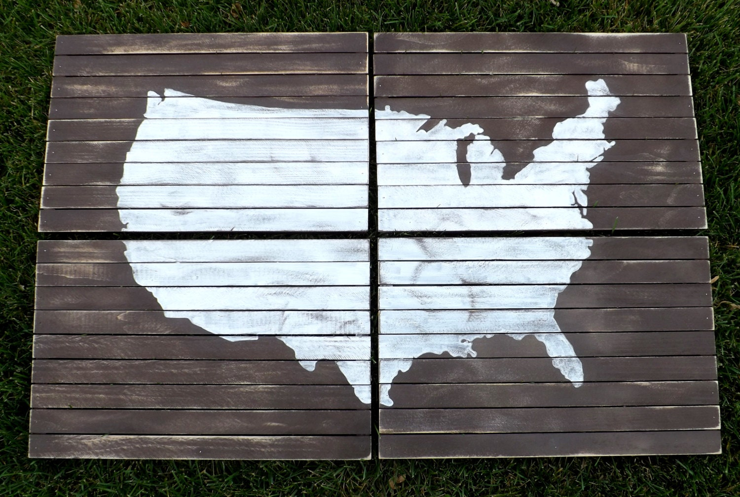 Planked Panel Art Map Of Us Usa Map Wall Art Wood Planked Art