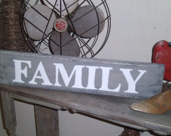 Family Sign, Family Gallery Wall Sign, Hand Painted Sign, Wood Sign