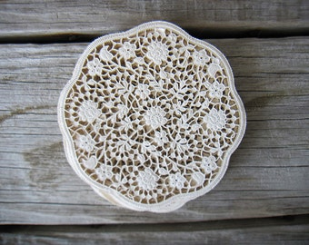 Vintage Doily Coasters. Romantic Party Decor