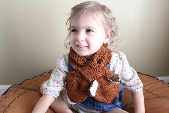 Pdf Pattern Toddler Scarf Childs Scarf Fox Scarf Etsy