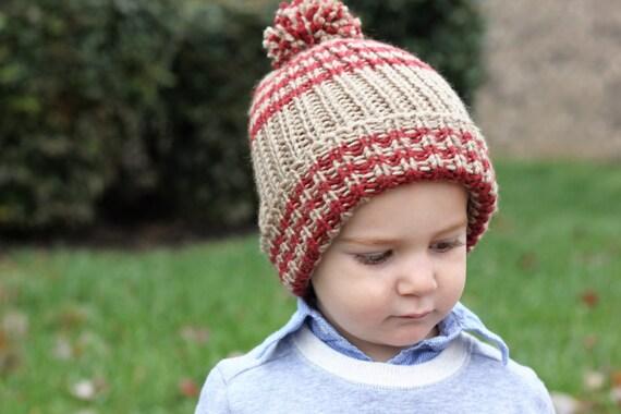 Knitting Pattern Pdf Toddler Ribbed Hat Toddler Knit Hat Etsy