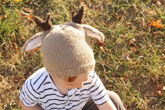 Pdf Pattern Deer Hat Pattern Reindeer Hat Pattern Christmas Etsy