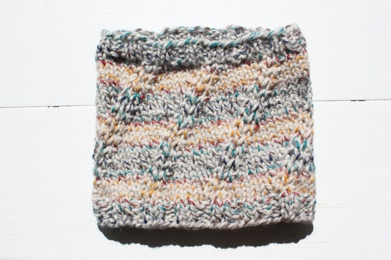 Knitting Pattern Pdf Bulky Cowl Pattern Thick And Quick Etsy