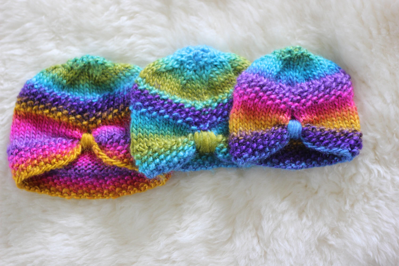 PDF Pattern, rainbow baby hat, bohemian baby hat, Lion Brand ...