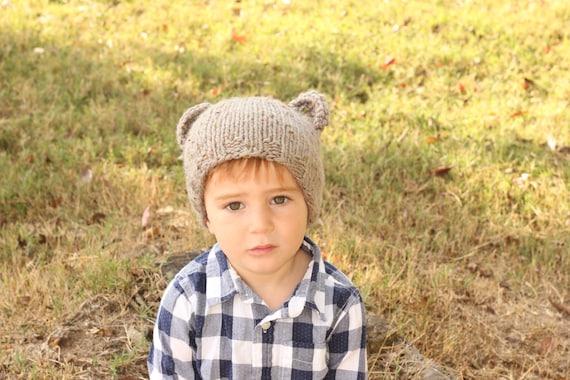 Pdf Knitting Pattern Toddler Animal Bear Hat Baby Bear Hat Etsy