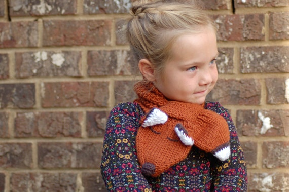 Pdf Pattern Toddler Knitting Pattern Childs Scarf Etsy