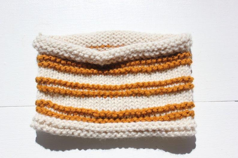 Knitting Pattern Pdf Super Bulky Scarf Pattern Striped Scarf Etsy