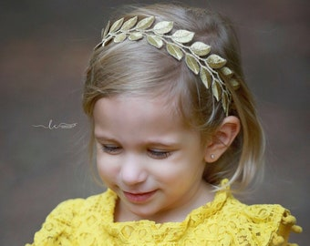 Gold Trim Headband for babies to adults, 3/8 inch gold trim with elastic on the back for a perfect fit, by Lil Miss Sweet Pea