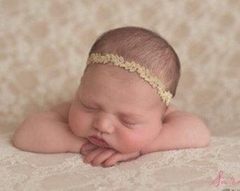 Gold Trim Headband, fotograf, photo prop, bandeau bebe, Christmas headband, simple gold, by Lil Miss Sweet pea