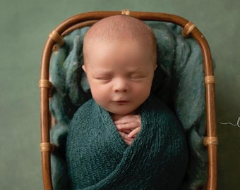 Pine colored stretch knit wraps, perfect for boys or girls, dark green stretch knit swaddle wrap for newborns, Lil Miss Sweet Pea