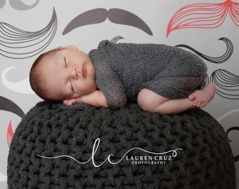 Boys Stretch Knit Swaddle Wraps - measure 12 x 55 inches laying flat and up to 39 x 72 inches when stretched, by Lil Miss Sweet Pea