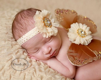 Brown, gold and cream butterfly wings set for newborn photos, photo prop, newborn photographers, new baby, baby wings, Lil Miss Sweet Pea