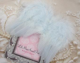 Baby Blue Feather Angel Baby Wings for photo shoots for newborn babies, perfect for boys! Bebe, muchacho,  photographer, Lil Miss Sweet Pea