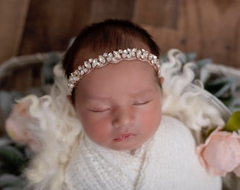 Textured swaddle wrap AND/OR rose gold rhinestone headband, photoshoot, bebe, baby bling, bandeau bebe, Lil Miss Sweet Pea