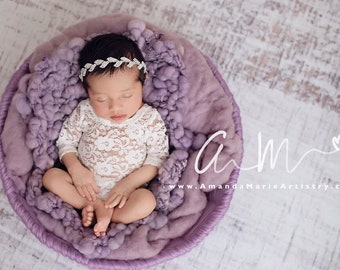 Newborn Lace Romper (unlined) AND/OR rhinestone leaf headband, photoshoot, bebe, baby bling, bandeau bebe, Lil Miss Sweet Pea